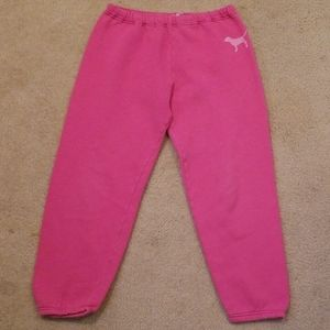 "VS/PINK ""PINK+DOG"" Classic Joggers X-Small Nwot"